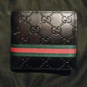 Damaged gucci wallet